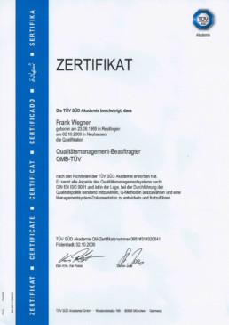Zertifikat Qualitätsmanagement Orgeda GmbH Wolfschlugen Stuttgart