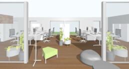 Innovative Büroraumplanung Arbeitsplatzkonzept Orgeda GmbH